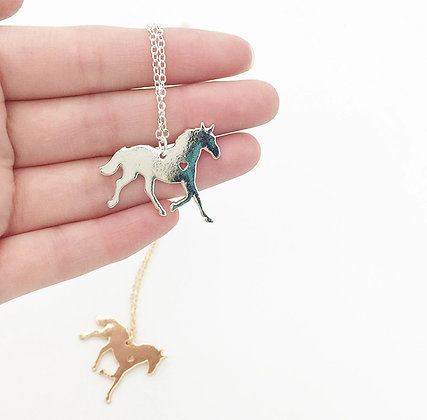 Halsband Love Horses Silver