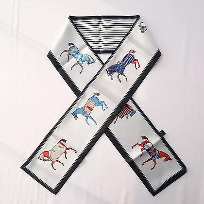 Scarf Beige Horses