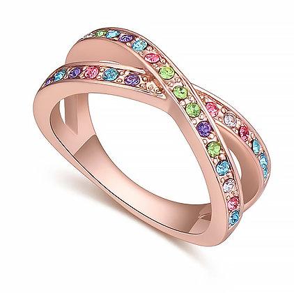 Ring Crystal Multicolor