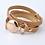 Thumbnail: Läderarmband Gold Fuchsia