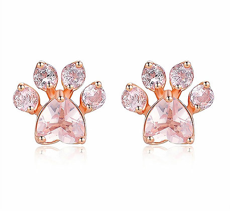 Örhängen Rose Crystal Gold Paw