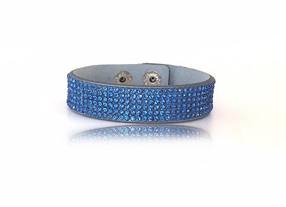 Armband Blå Glitter