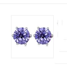 Örhängen Swarovski Purple