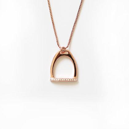 Halsband Crystal Stirrup Rose Gold