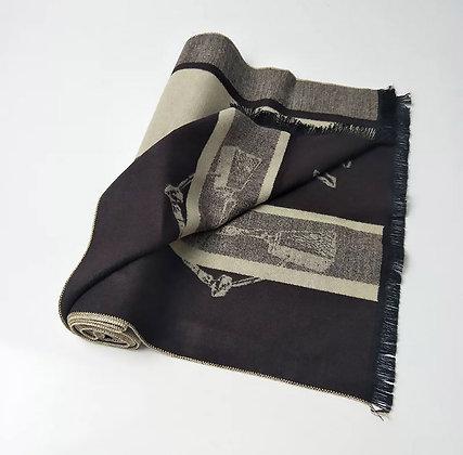 Winter Cashmere Scarf Khaki 170 cm