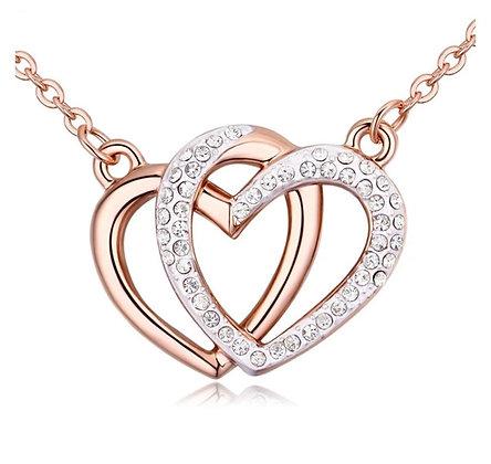 Halsband Two Hearts