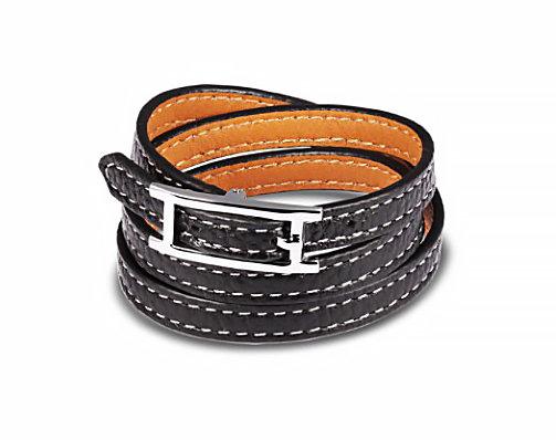 Läderarmband Black
