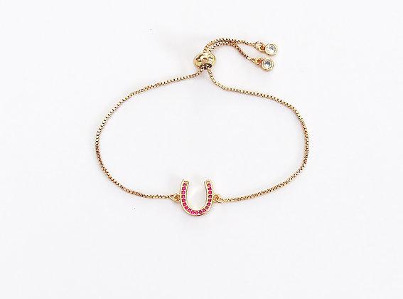 Armband Hästsko Crystal Gold