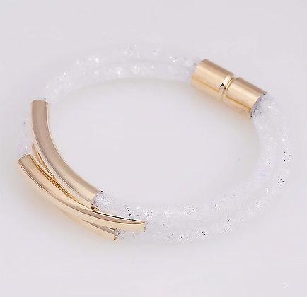 Armband Crystal Mesh White
