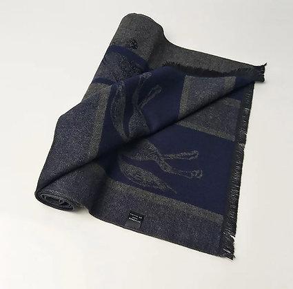 Winter Cashmere Scarf Dark Blue 170 cm