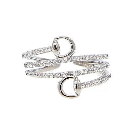 Ring Crystal Snaffle