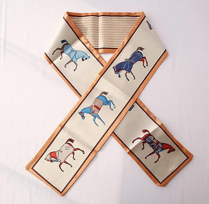 Scarf Orange Horses