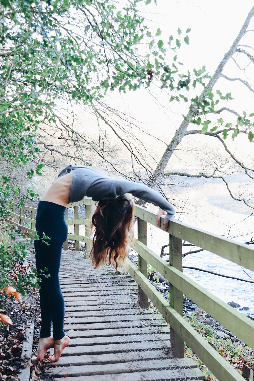 Yoga girl - nature