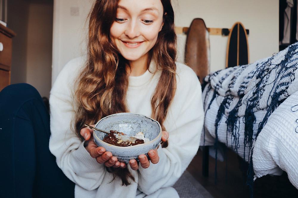 vegan girl - sticky toffee pudding