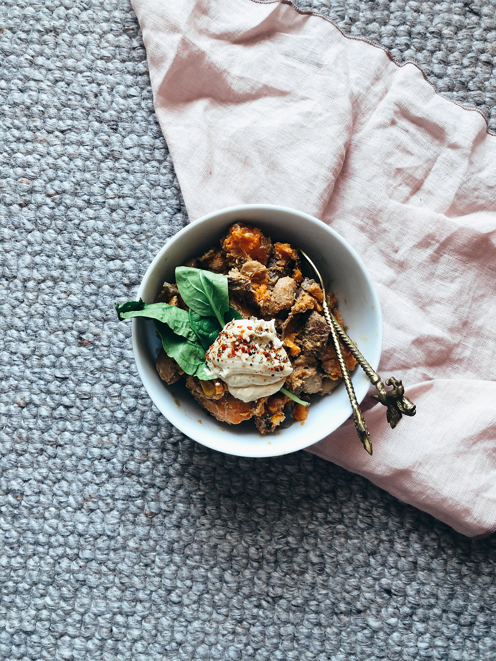 Vegan miso sweet potato stew