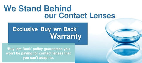 Highpoint Family Visions Exclusive 'Buy 'em Back' Warranty on Contact Lenses