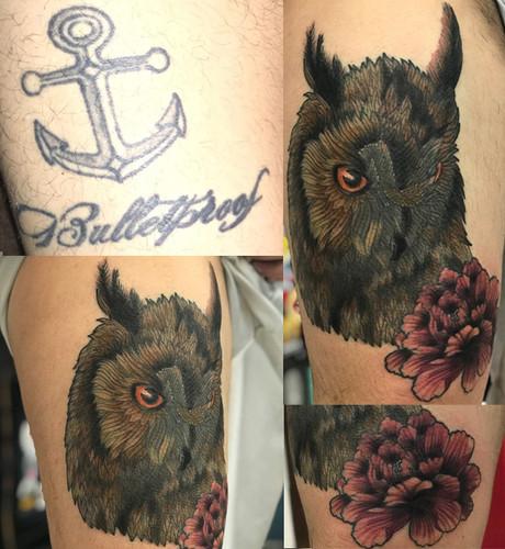 Owl Coverup Tattoo