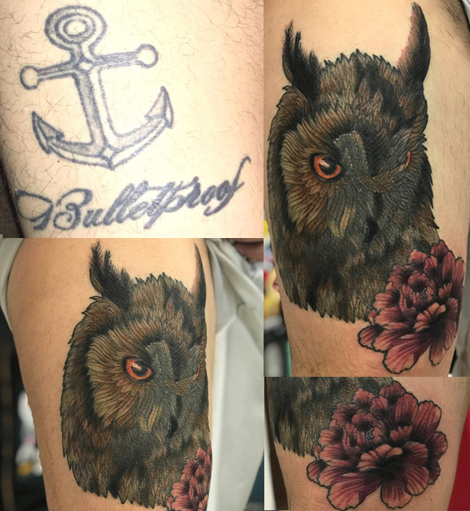 Owl Coverup Tattoo