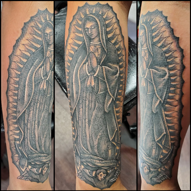 Virgin Guadalupe tattoo