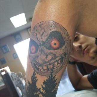 Evil Moon Tattoo