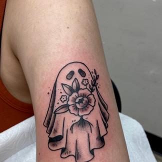 Cute ghost tattoo