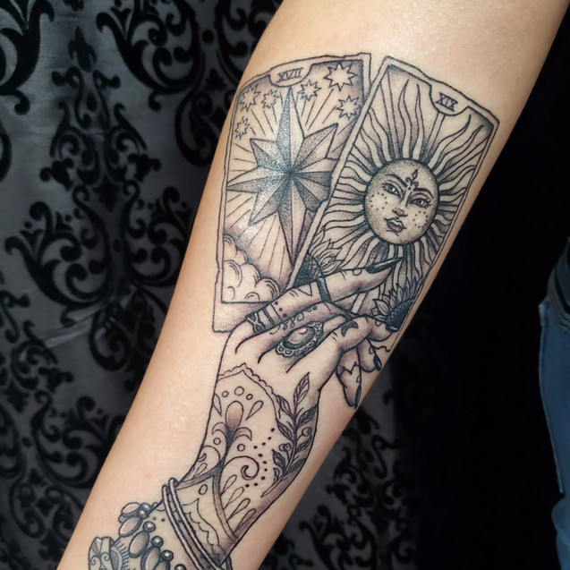 Tarot card tattoo