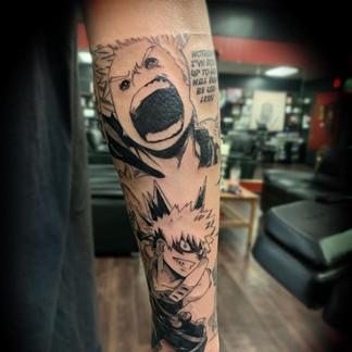 Manga Panel MHA tattoo