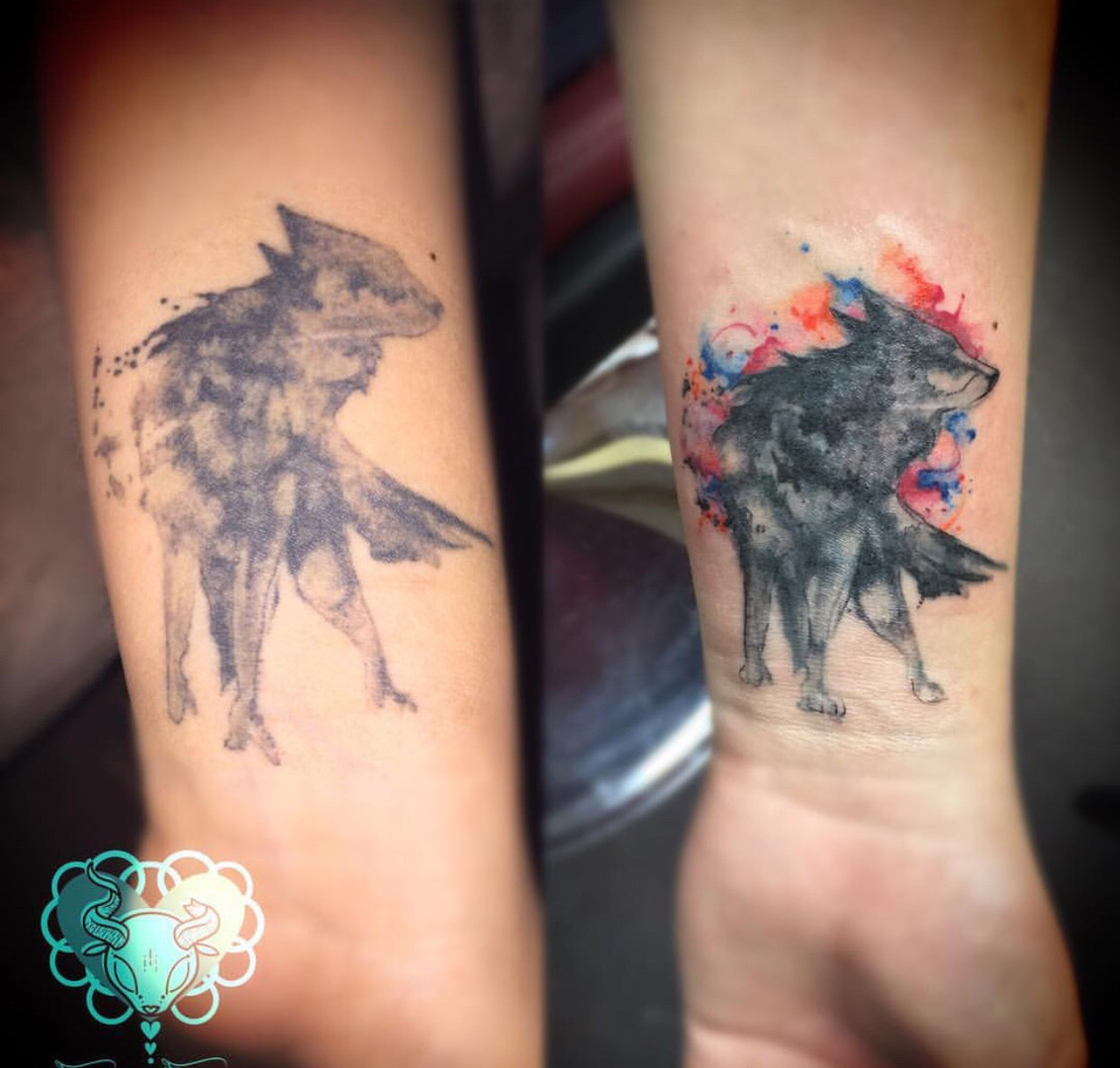 Wolf Tattoo Repair