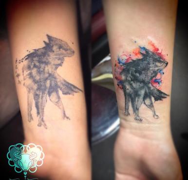 Wolf Tattoo Repair