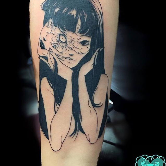 Manga girl tattoo
