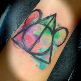 Watercolor Disney tattoo