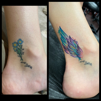 Watercolor Coverup tattoo