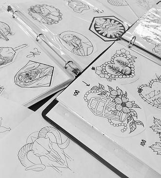 tattoo flash, tattoo ideas, pre-drawn tattoos