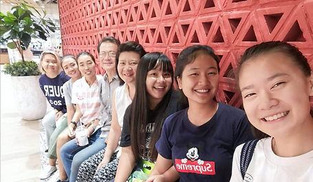 Family gathering at the Chiang Rai mall