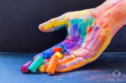 creation artistique colorée