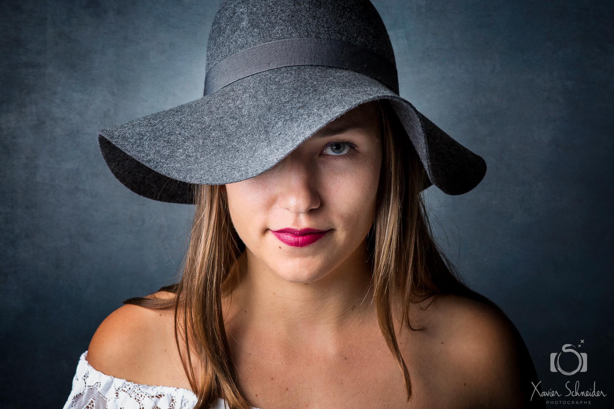 shooting portrait chapeau grenoble