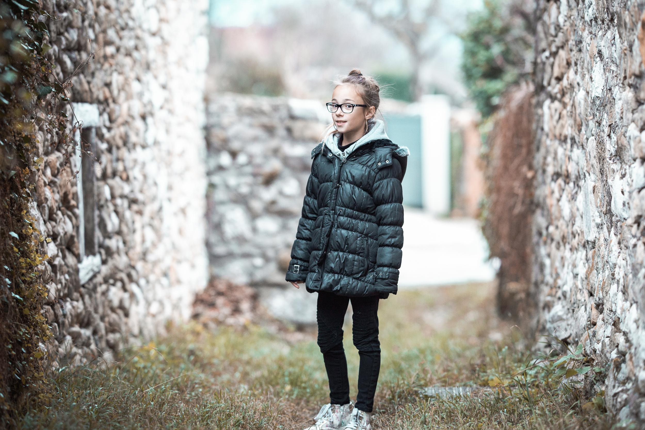 portrait enfant extérieur