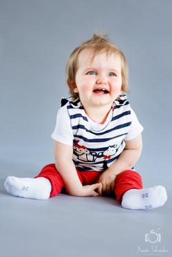 seance photo bébé qui rit