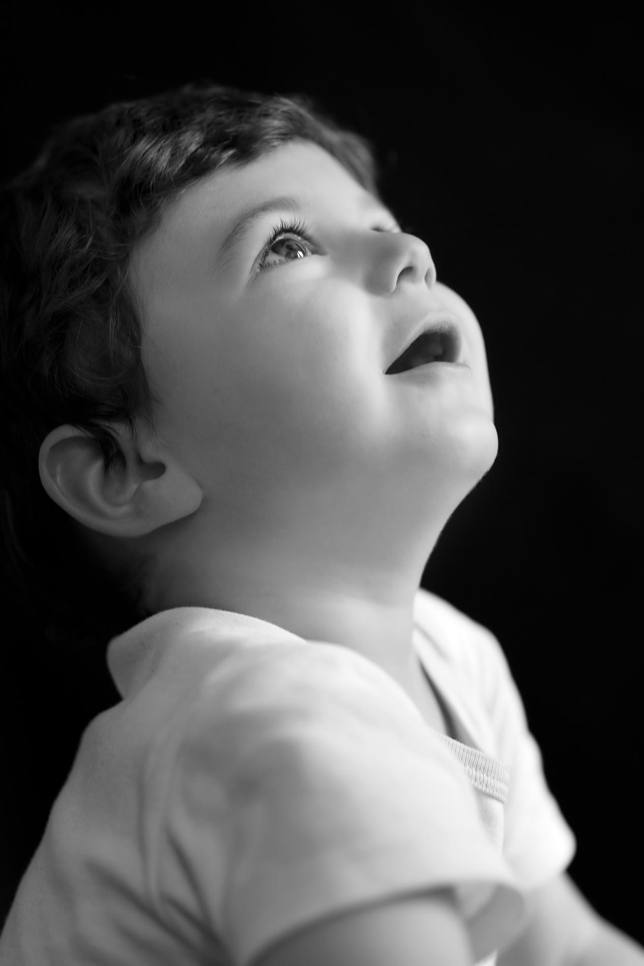 photo d'enfant noir et blanc meylan