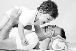 photographe famille noir et blanc