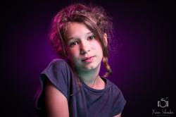 shooting studio fond violet