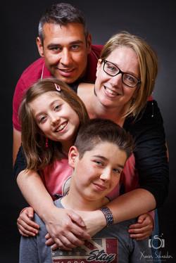 la famille au complet