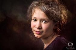 photographie enfant bokeh rouge