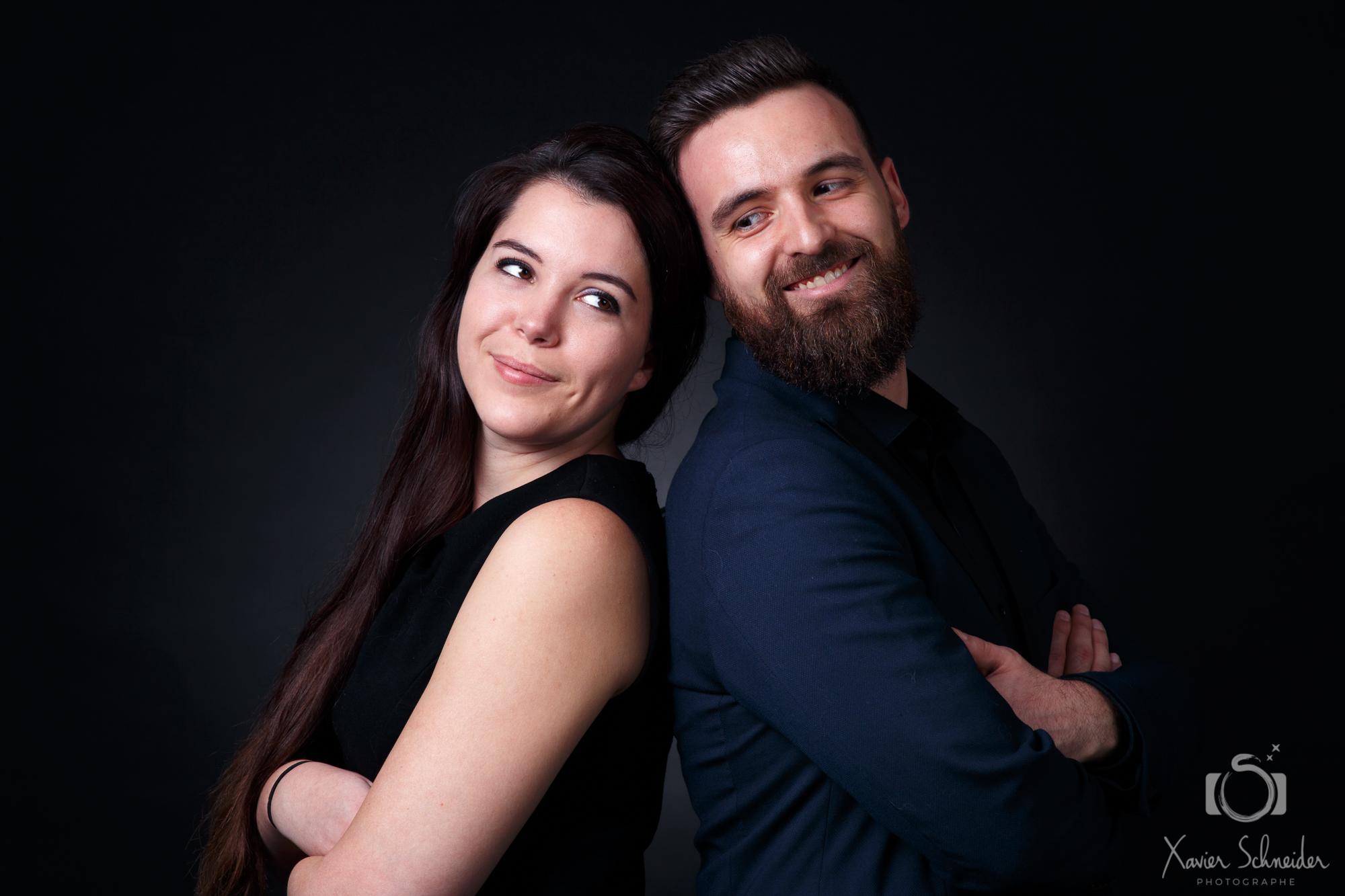 photo de couple en studio