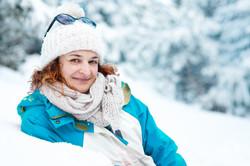 portrait exterieur hiver