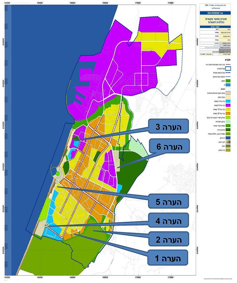 הערות למחוזית תכנית מתאר אשדוד 6 נוב 201