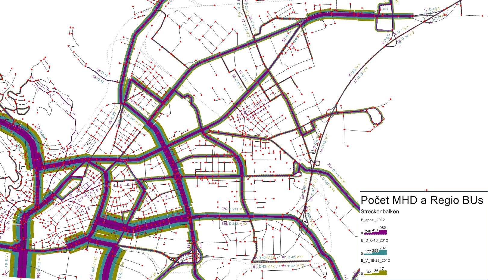 BRATISLAVA  Počty HD a regionálnych autobusov pre jednotlivé fázy dňa