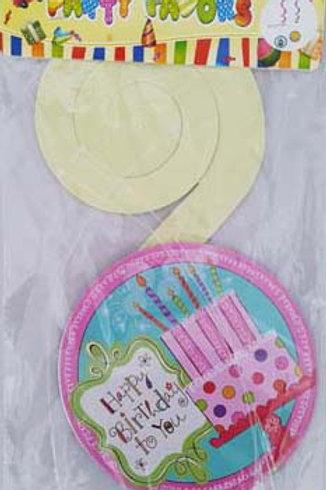 Pink Birthday Cake Design Hanging Decoration