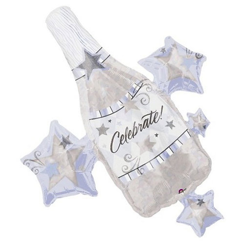 Celebration Cluster Prismatic Champagne Foil Balloon