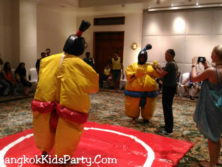 Sumo Inflatable Wresting is Fun!